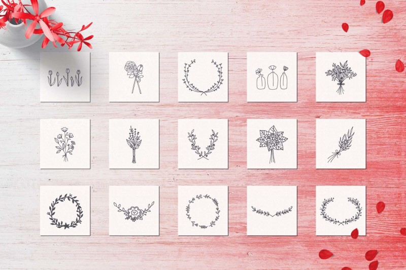 150-hand-drawn-elements-wedding