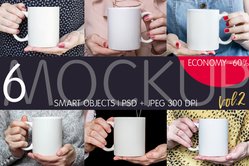 Free Girl's Mugs Great Bundle. Vol.2 (PSD Mockups)