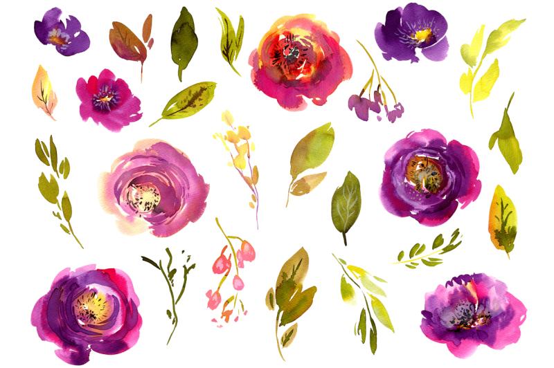 violet-meadow-watercolor-flowers-png