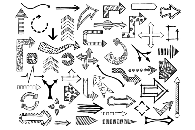 49-doodle-arrows-collection