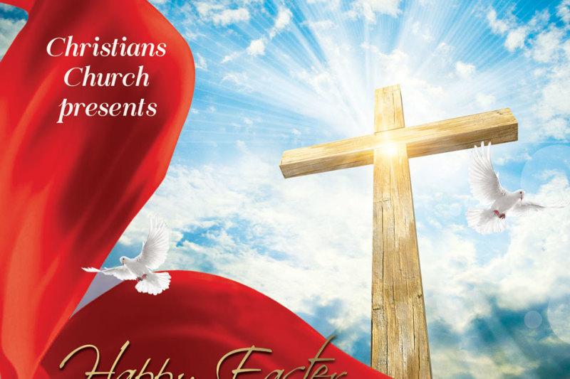 he-is-risen-happy-easter-church-flyer