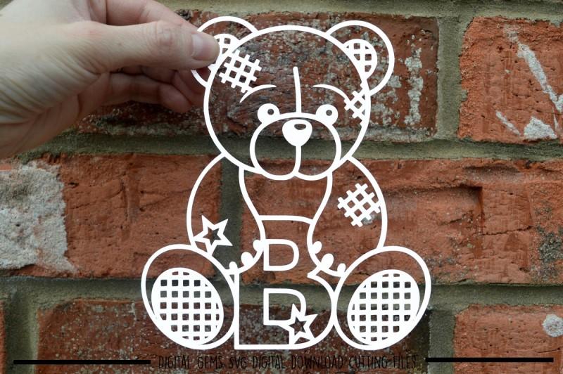teddy-bear-letter-b-paper-cut-svg-dxf-eps-files