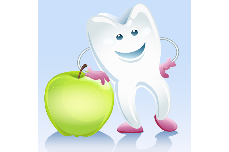 tooth-and-apple