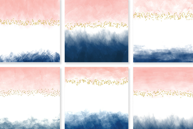 watercolor-blush-and-navy-with-sparkling-glitter