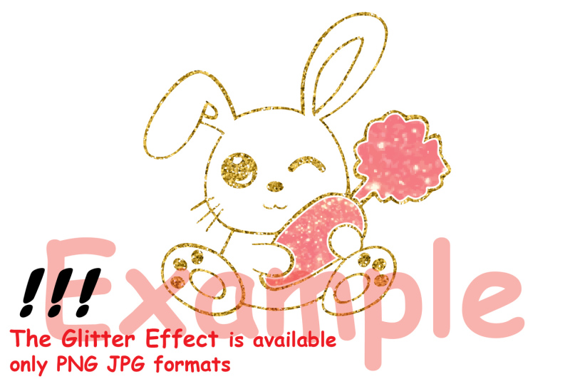 easter-bunny-silhouette-glitter-rabbit-carrot-outline-758s
