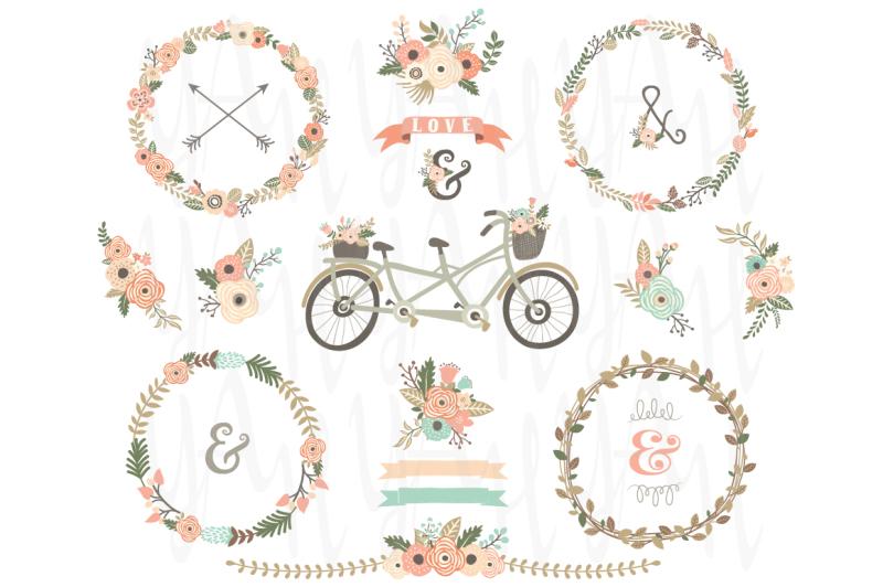 vintage-floral-wreaths-bicycles