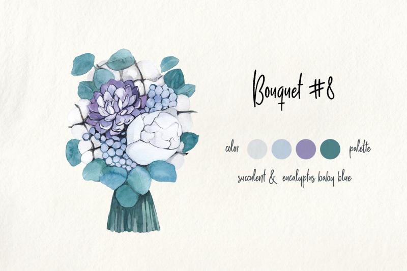 bridal-bouquets-floral-watercolor-collection