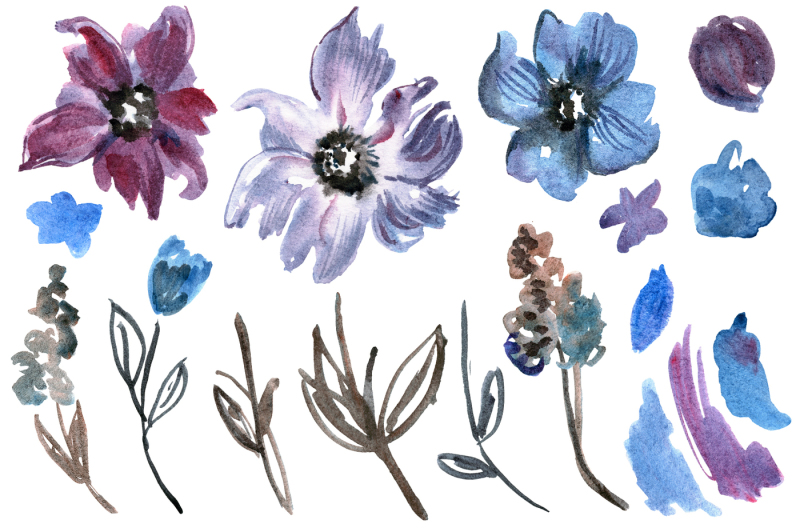 watercolor-violet-flowers
