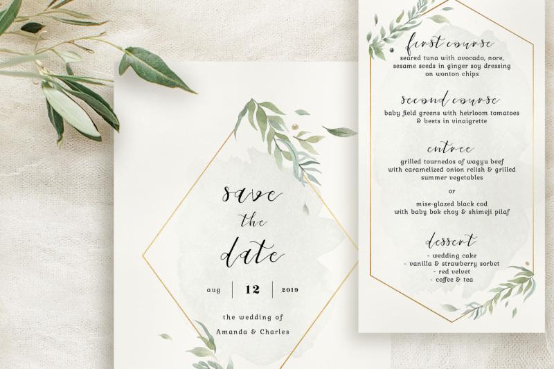 modern-gold-foliage-wedding-suite