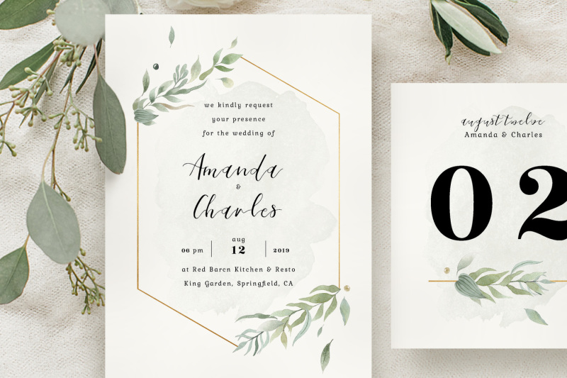 modern-gold-foliage-wedding-suite