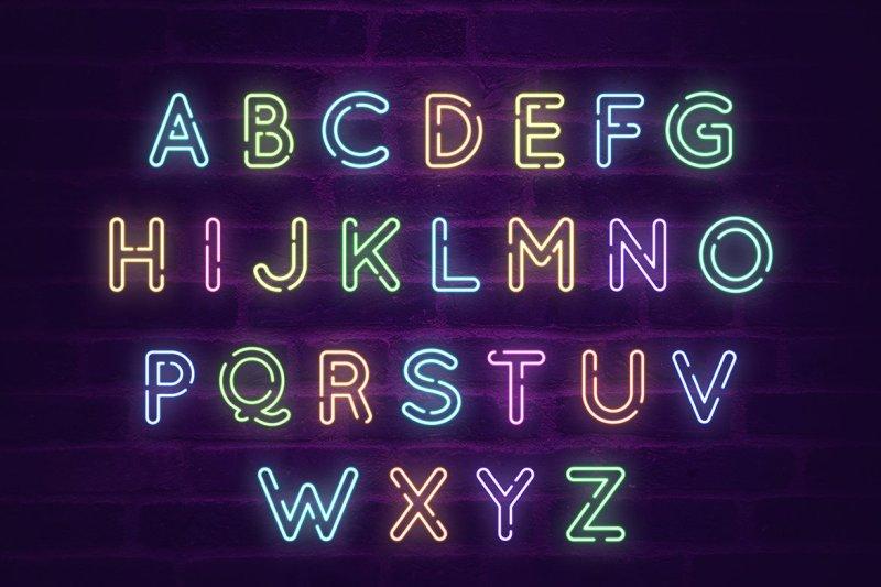 animated-neon-social-media-kit