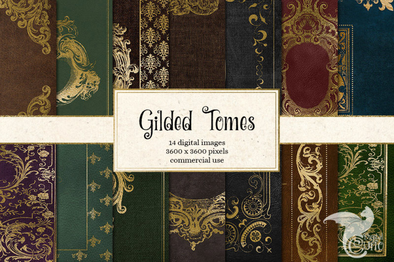 gilded-tomes-digital-paper