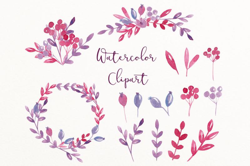purple-watercolor-clip-art