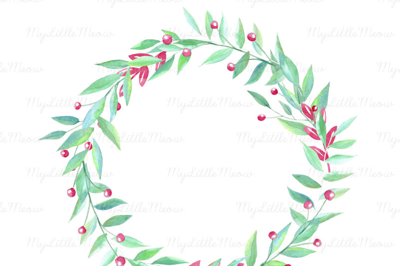 handpainted-watercolor-wreath