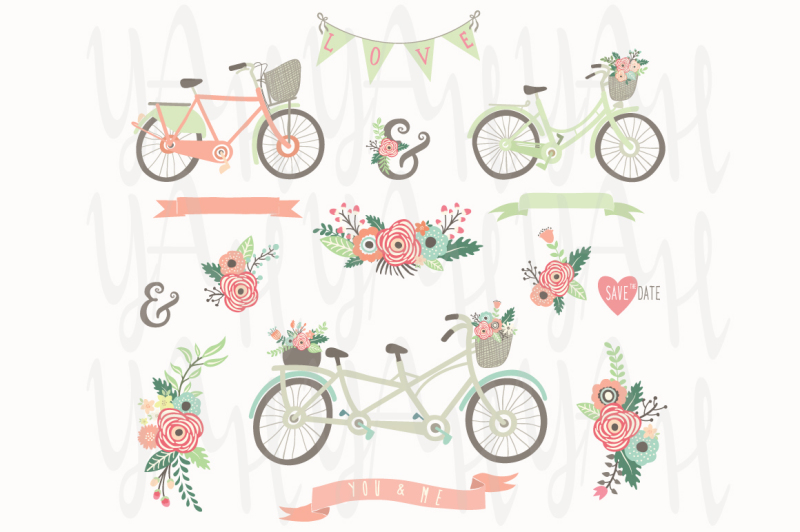 vintage-floral-hand-drawn-bicycles