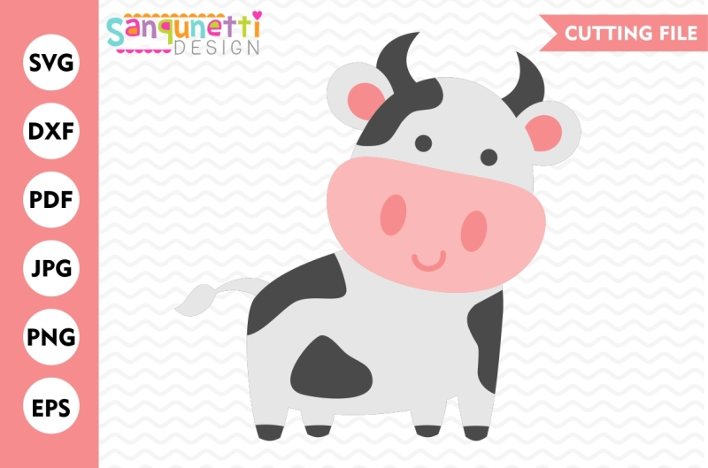 Download Cow SVG, Farm SVG, EPS, JPG, DXF, PNG By Sanqunetti Design ...
