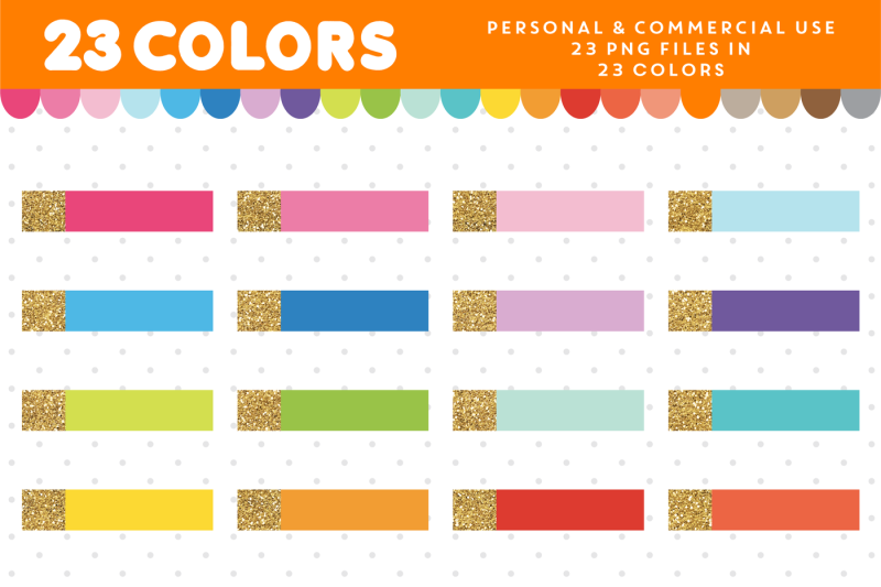 gold-header-clipart-in-23-colors-for-planners-cl-1672