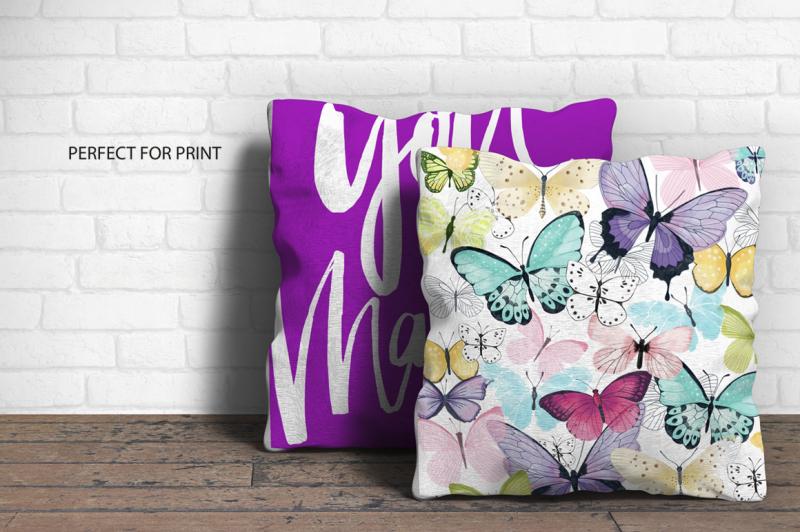 butterfly-watercolor-elements