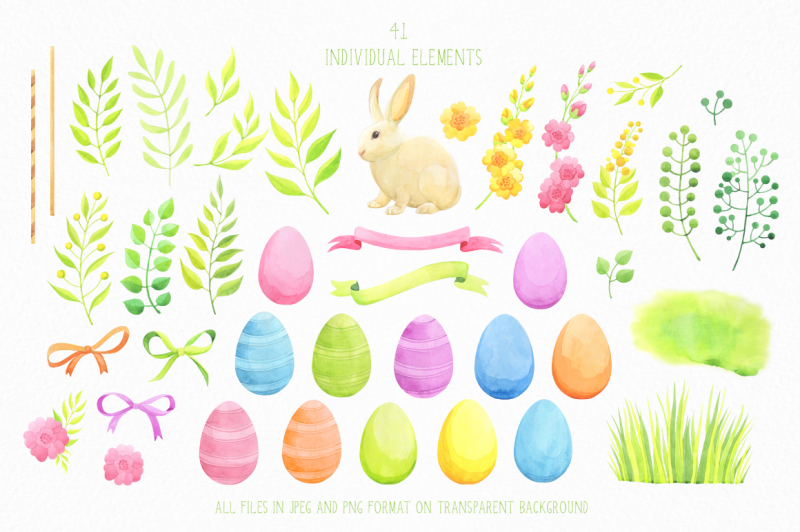 happy-easter-watercolor-collection
