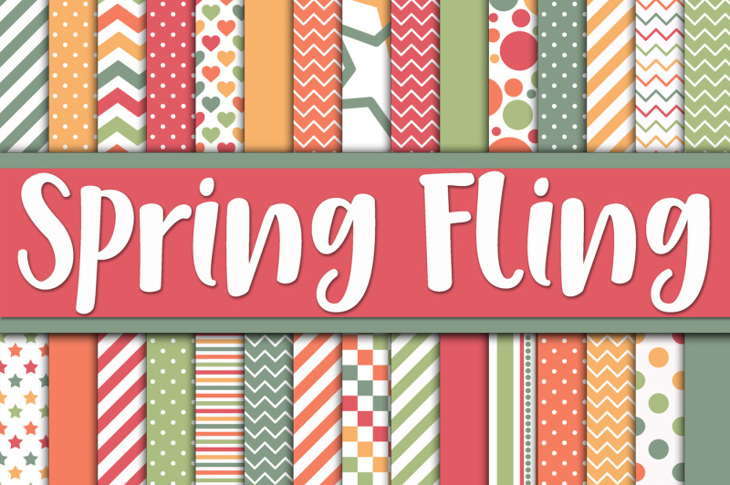 spring-fling-digital-paper