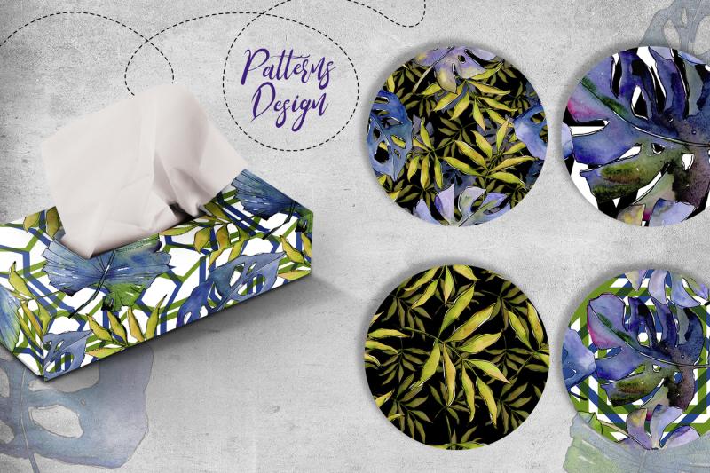 tropics-leaves-png-watercolor-set