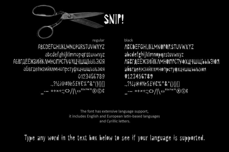 snip-font-family