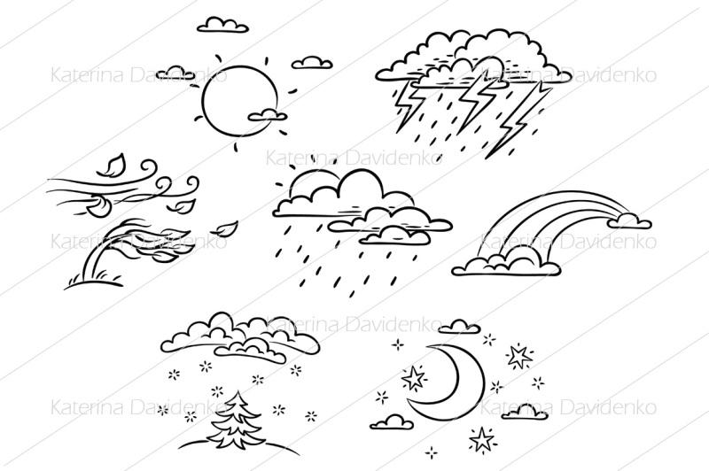 cartoon-weather-set