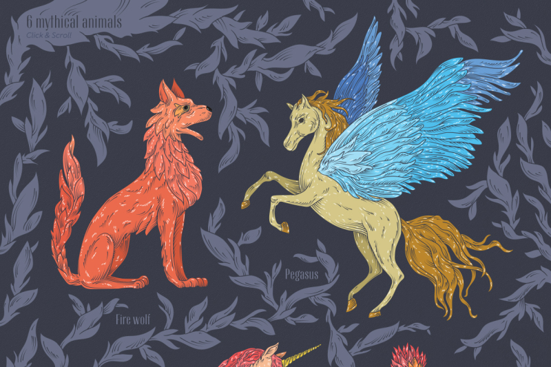 mythical-animals-patterns