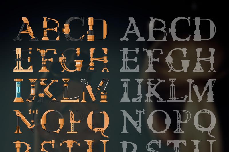 steampunk-font