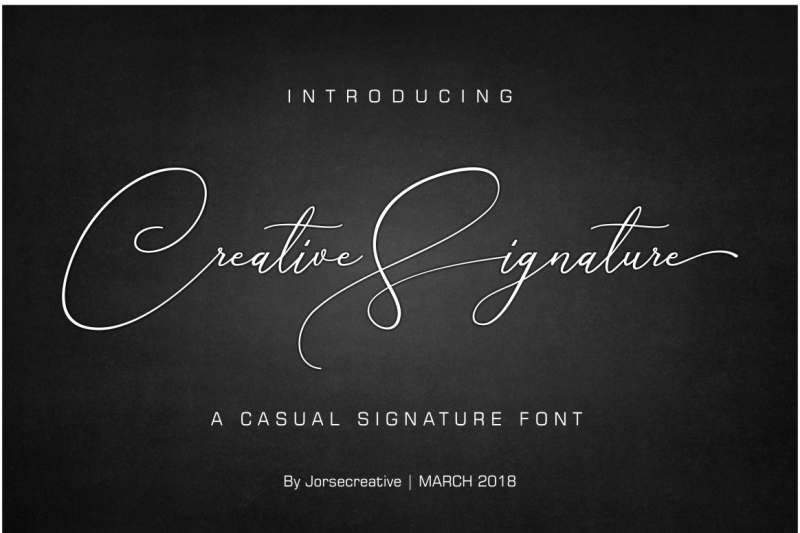 creative-signature-font