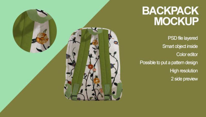 Free Backpack Mockup (PSD Mockups)