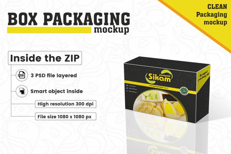 Free Box Packaging Mockup (PSD Mockups)