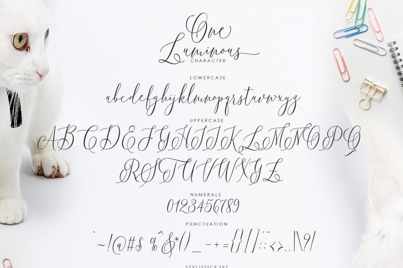 one-luminous-script