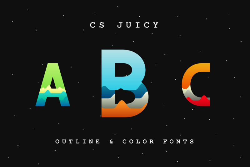 cs-juicy-color-font-and-outline