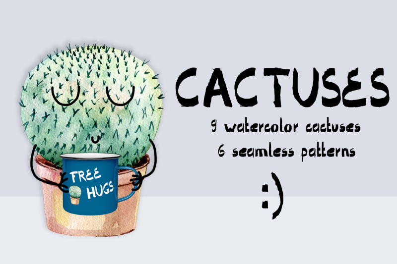 watercolor-cactuses