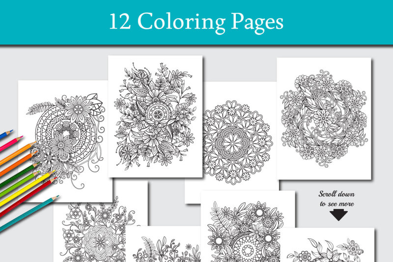 12-coloring-pages