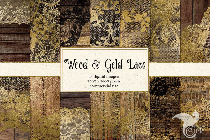 gold-lace-and-wood-digital-paper