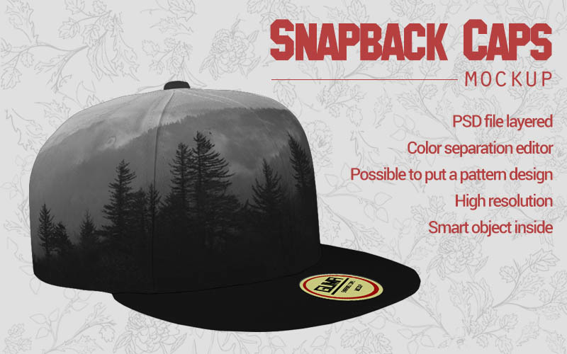 Download Snapback Cap Psd Mockup Yellowimages