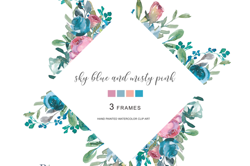 watercolor-floral-frames-hand-painted