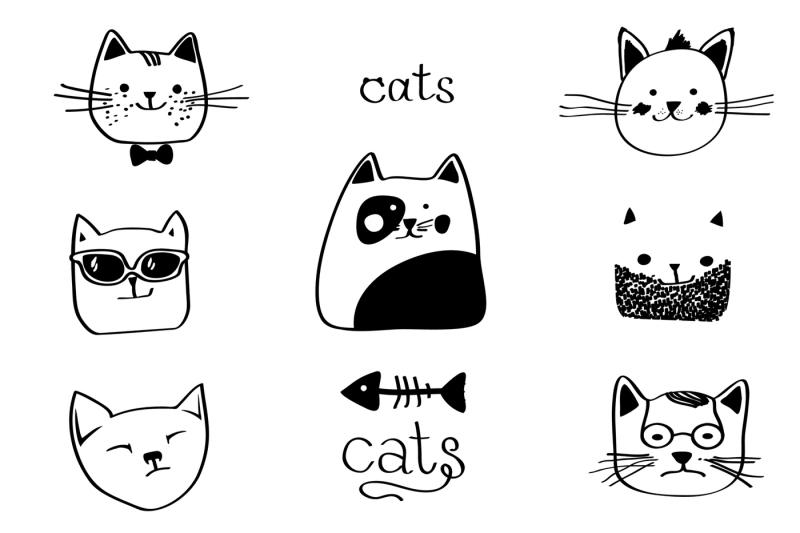 cats-vector-set