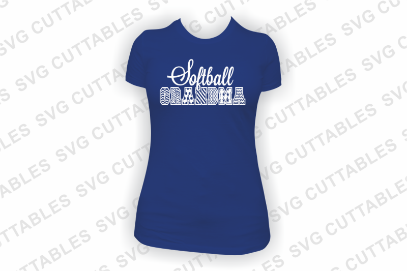 Softball Mom Grandma Patterned By Svg Cuttables Thehungryjpeg Com