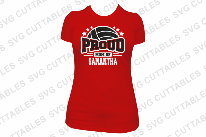Proud Volleyball By Svg Cuttables Thehungryjpeg Com