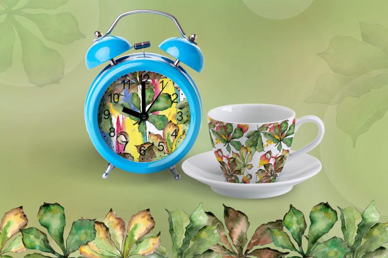 chestnut-leaves-png-watercolor-set