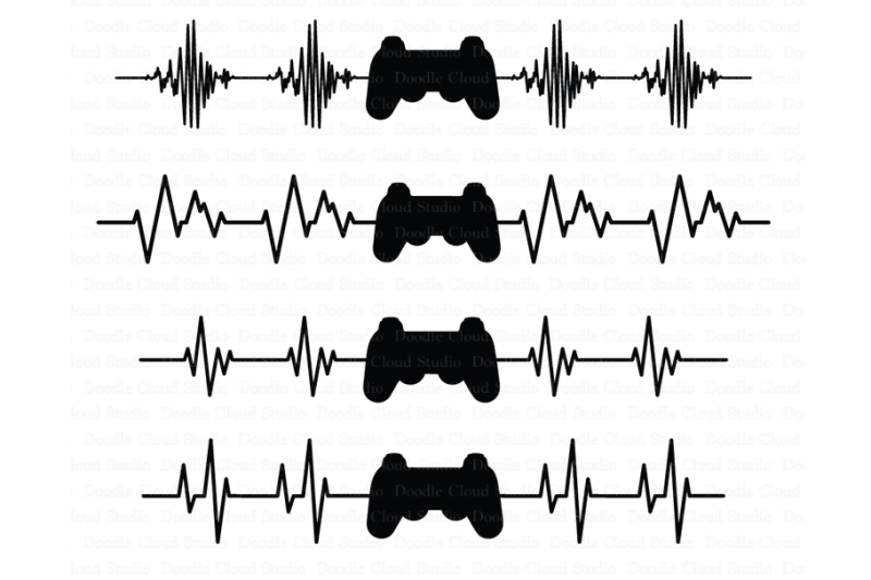 heartbeat-game-controller-svg-files-heart-beat-line-svg-files