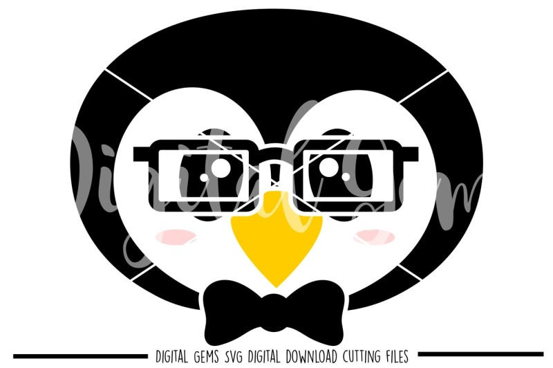 penguin-face-svg-dxf-eps-png-files