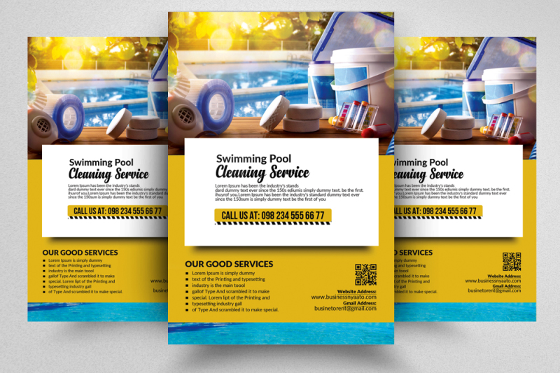 pool-cleaning-flyer-template