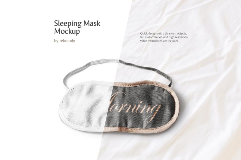 Free Sleeping Mask Mockup (PSD Mockups)