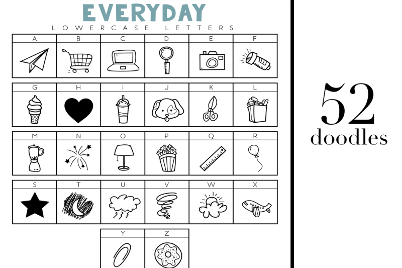 all-the-things-everyday-doodles-font