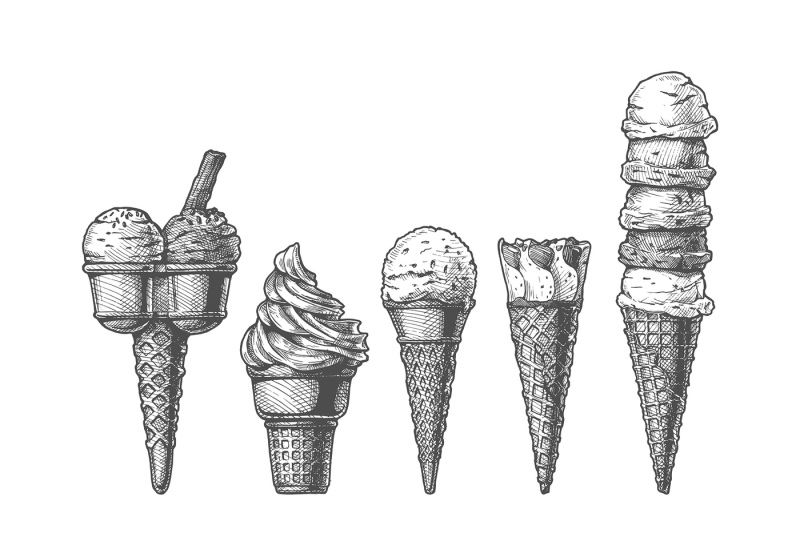 set-of-ice-creams
