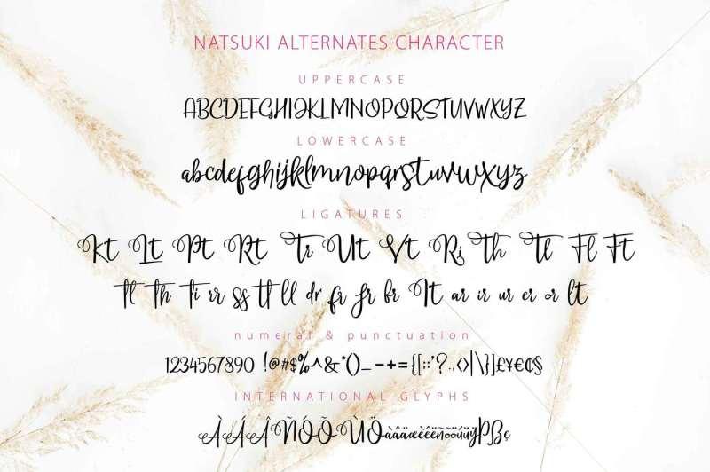 natsuki-hand-lettered-script